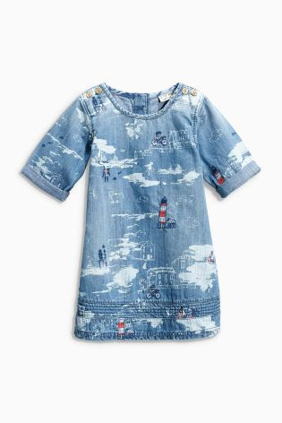 Buy Denim Lighthouse Embroidered Denim Dress (3mths-6yrs) online today at Next: Netherlands