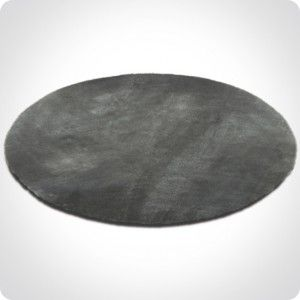 Tapis rond gris foncé