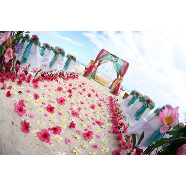 hawaii beach weddings   with themes bamboo on oahu ❤ liked on Polyvore
