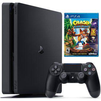 Consola PlayStation 4 Slim 1000 GIGAS Con Juego Crash Bandicoot N. Sane Trilogy PS4