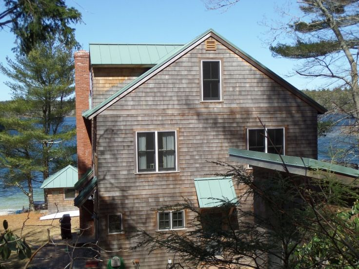 A Beautiful Standing Seam Metal Residential Metal Roofing System on a summer house by the lake. View more here: http://www.metalroof.us/metal-roofing-vs-shingles/
