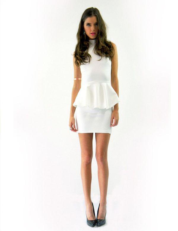 HEAVEN PEPLUM DRESS WHITE Lioness $75.00 NZD http://www.fash.co.nz/afawcs0159551/CATID=1/ID=921/SID=665943798/Heaven-Peplum-Dress-White.html