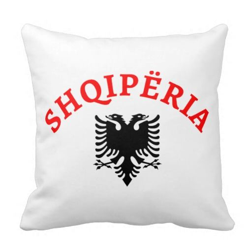 Albania and eagle - Shqiperia dhe shqiponja e flamurit - decorative/ornamental throw pillows - jastëqe dekorative
