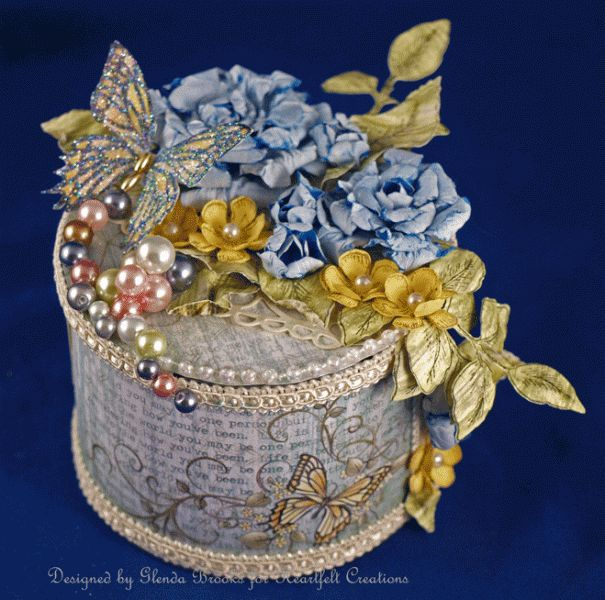 Altered Tin by GLENDA BROOKS - Cards and Paper Crafts at Splitcoaststampers