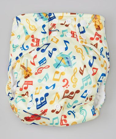 Another great find on #zulily! Cream Music Pocket Diaper by ROYAL FLUFF #zulilyfinds