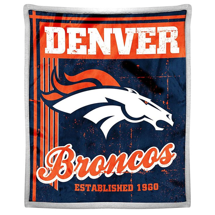 Officially Licensed NFL Broncos Sherpa Throw