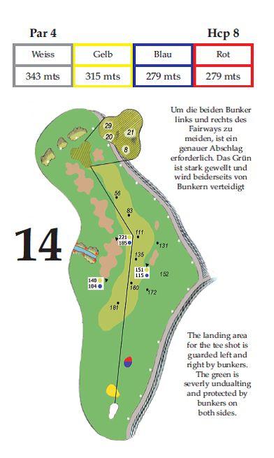 Lochbeschreibung Tee 14 im Golfclub Gut Altentann