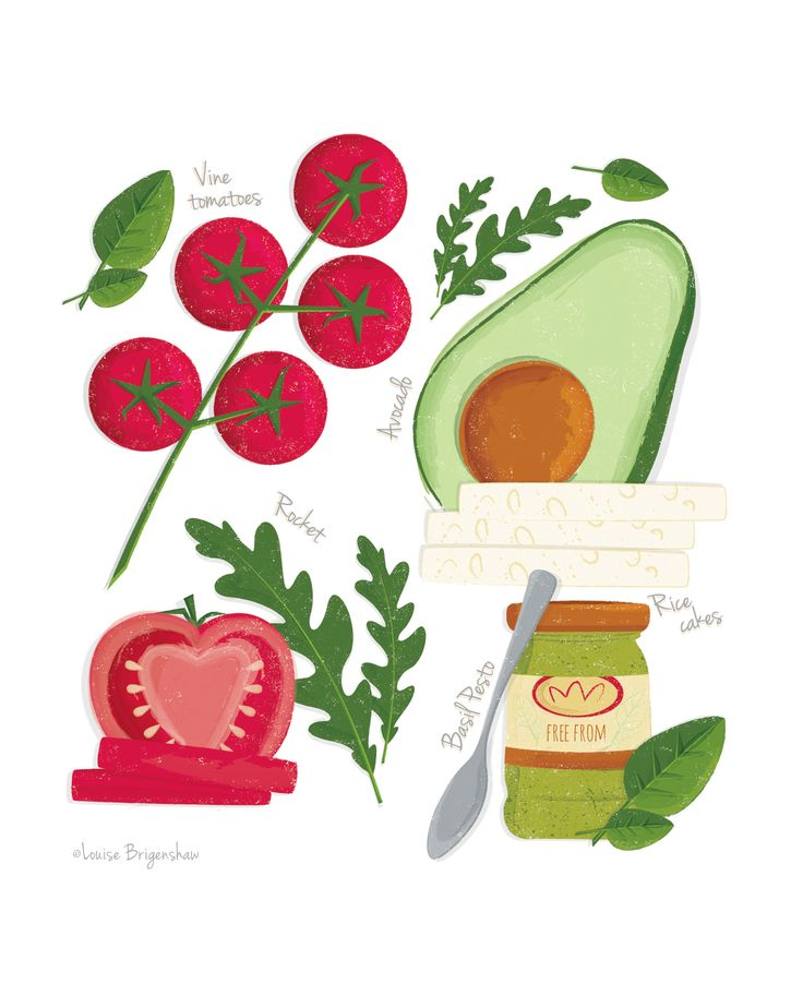 Food Illustration by Louise Brigenshaw