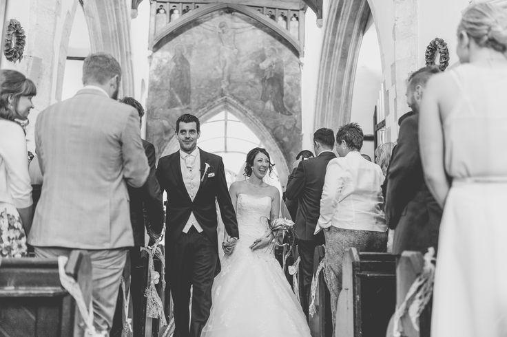 Bride groom aisle wedding photography