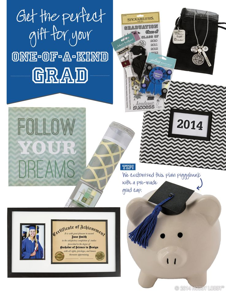Get the perfect graduation gift for your one-of-a-kind grad!