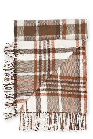 Check Knit Blanket