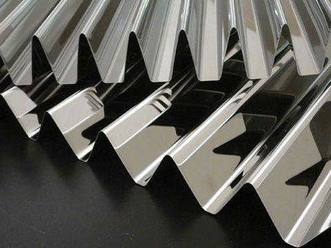 Bardage en panneau / en acier inox / métallique / ondulé PRISMA Fielitz