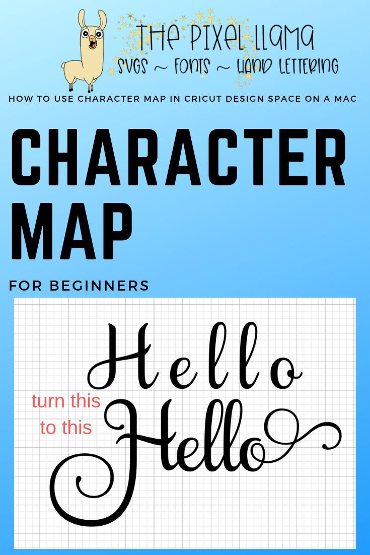Learn how to use your character map in Cricut Design Space ... on