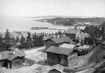 Näkymä Pispalanharjulta Santalahteen 1900-luvun alusta. Kuva: I.K. Inha.