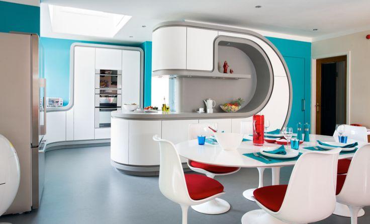 Sci-fi Inspired Corian® Kitchen Doors http://www.cdukltd.co.uk/