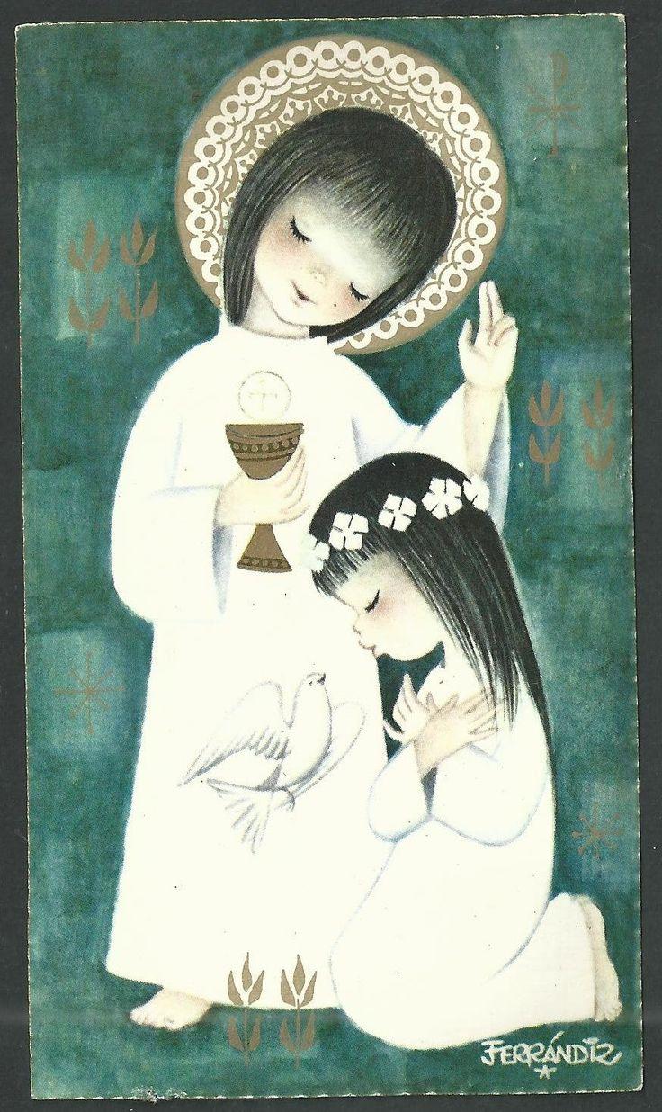 Estampa antigua de Ferrandiz andachtsbild santino holy card santini   eBay