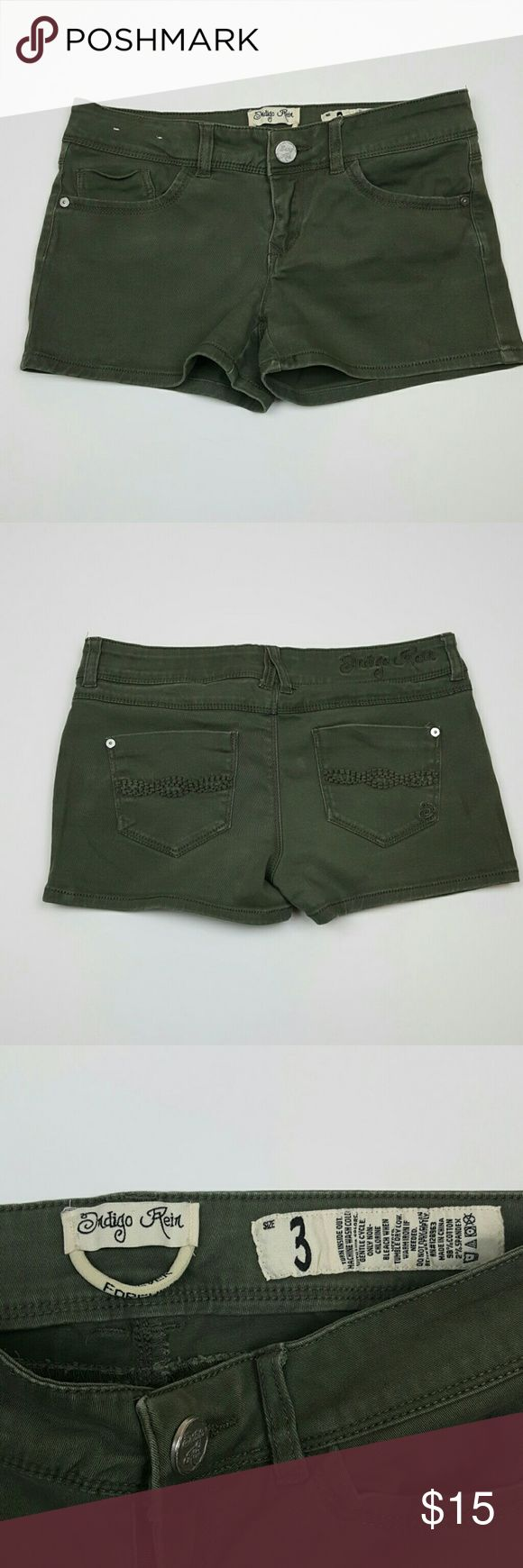 Selling this Army Green Shorts by Indigo Rein on Poshmark! My username is: dzuniga182. #shopmycloset #poshmark #fashion #shopping #style #forsale #Indigo Rein #Pants