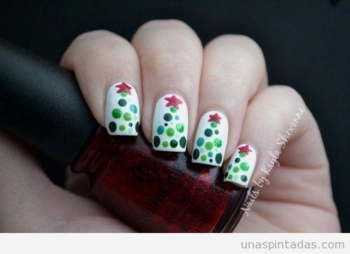 diseños de uñas para navidad paso a paso - Buscar con Google
