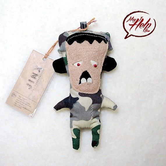 Jinx  The Frankenstein  Handmade Doll / Cotton / by MayIHelpU, $8.00