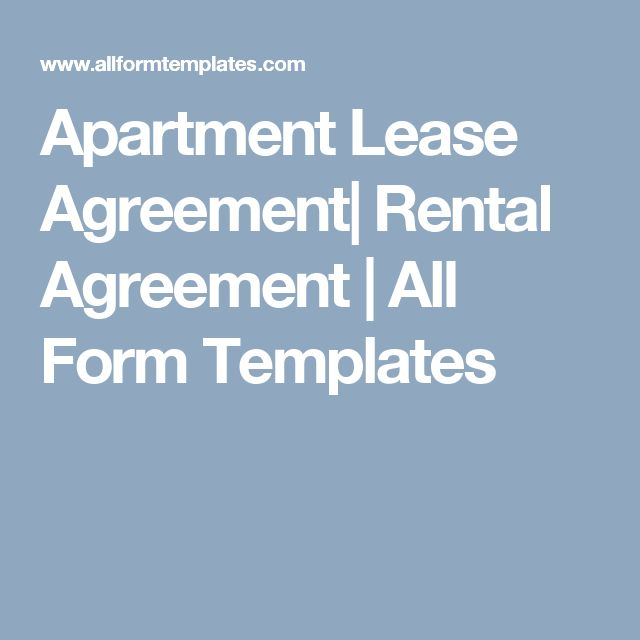 Apartment Lease Agreement Rental Agreement All Form Templates - microsoft rental agreement template