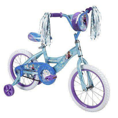 "Disney Frozen 14"" Girl's Bike Disney Frozen http://www.amazon.com/dp/B00P4US710/ref=cm_sw_r_pi_dp_wIqCvb0JE2YY6"