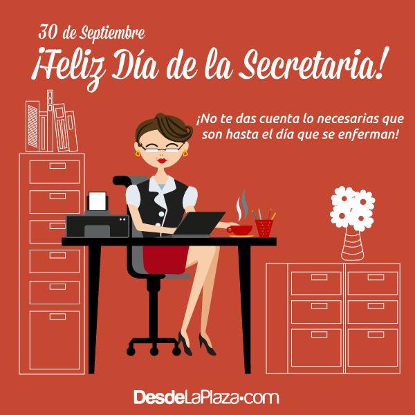 El 30 de septiembre está dedicado a esas mujeres que día a día nos ordenan nuestros asuntos pendientes, sin ella sería un perfecto desastre la oficina ¡Feliz día de la Secretaria!