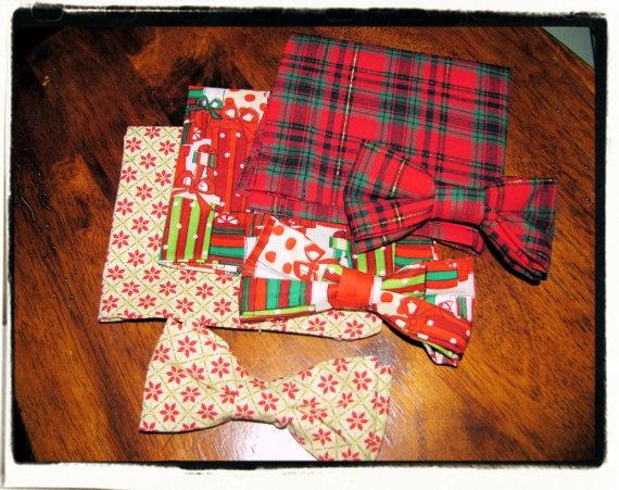 Christmas BOWTIES & POCKET SQAURES
