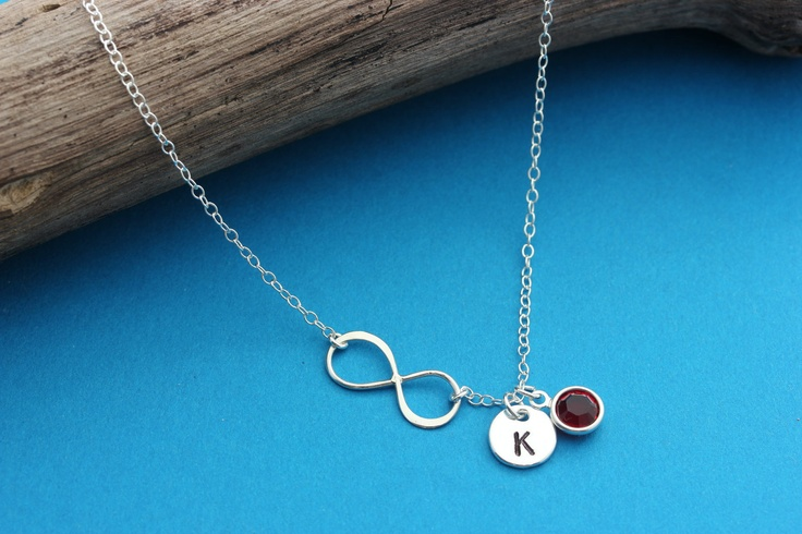 Infinity Love Eternity Symbol | ... Birthstone . Mothers day Necklace . Eternity symbol of Love Friendship