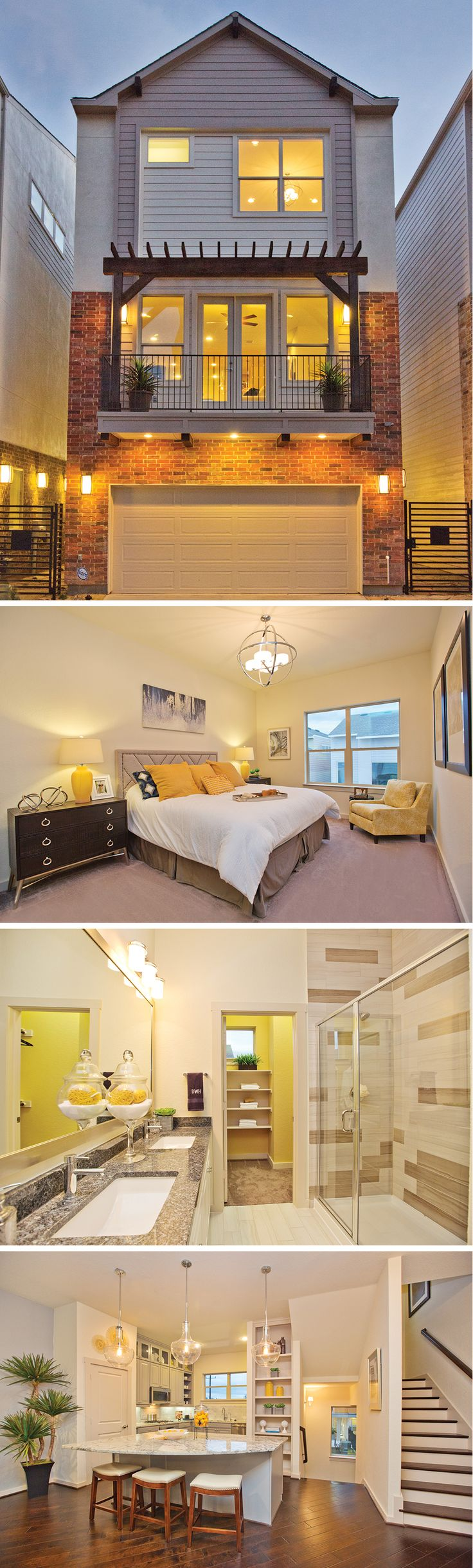 The Aransas by David Weekley Homes in The Gardens at Urban Crest is a 3 bedroom, 3 bath floorplan that features an open kitchen and living room layout, a large owners retreat and a 2 car garage.