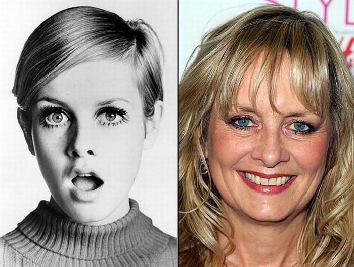 Then and Now-Twiggy #thenandnow | Then and Now | Pinterest