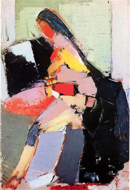 Art is a secret passion of hers, but she rarely has time to practice or enjoy it now but she takes solace in admiring the work of other artists like: Nicolas de Staël, Portrait of Anne, 1953. Oil on canvas, Musée d'Unterlinden, Colmar.