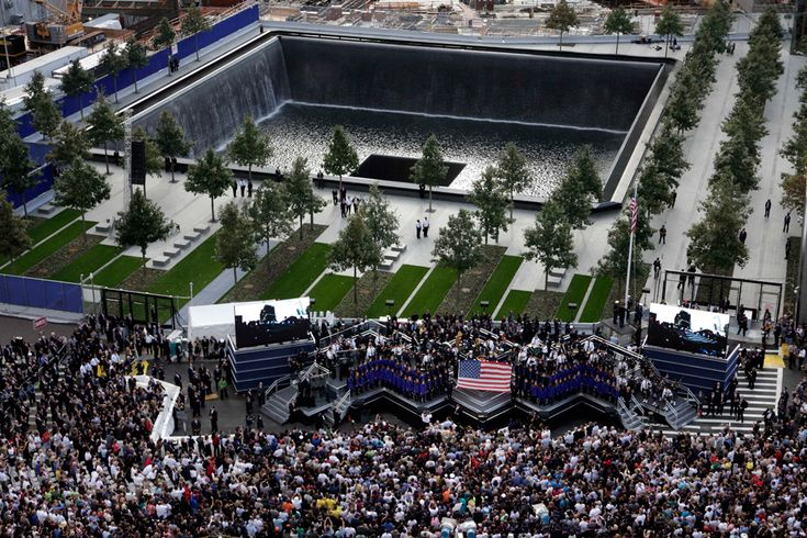 The World Trade Center ceremony marking the 10th anniversary of the attacks takes place at the National September 11 Memorial, Sept. 11, 2011 in New York.