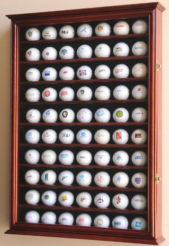I bet K would love this in his man cave 70 Golf Ball Display Case Cabinet Holder Wall Rack w/ UV Protection