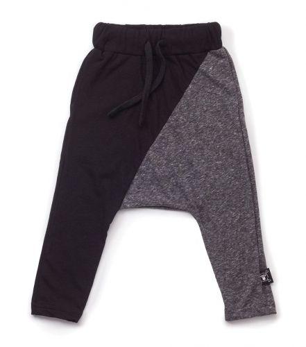 half & half baggy pants - NUNUNU WORLD