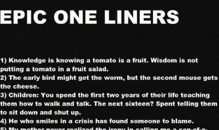 Epic One Liners pictures featured