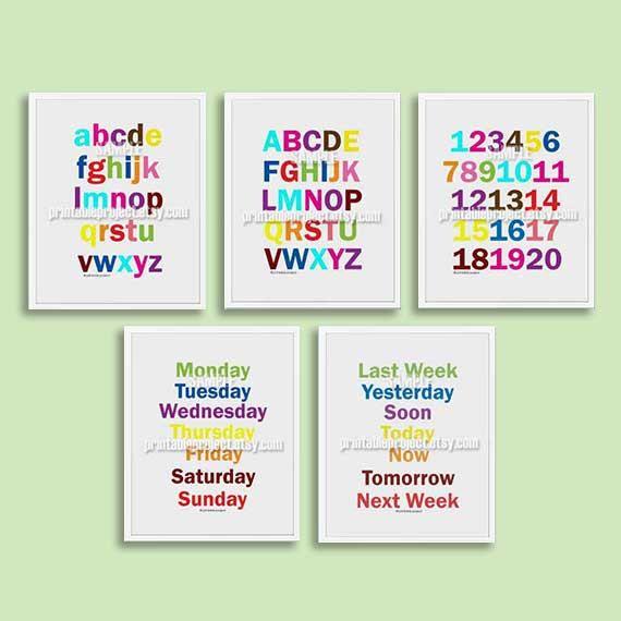 Alphabets nursery art baby nursery decor by printableproject, $5.00