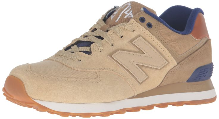 New Balance Men's ML574 Collegiate Pack Fashion Sneaker, Linseed/Dust, 17 D US