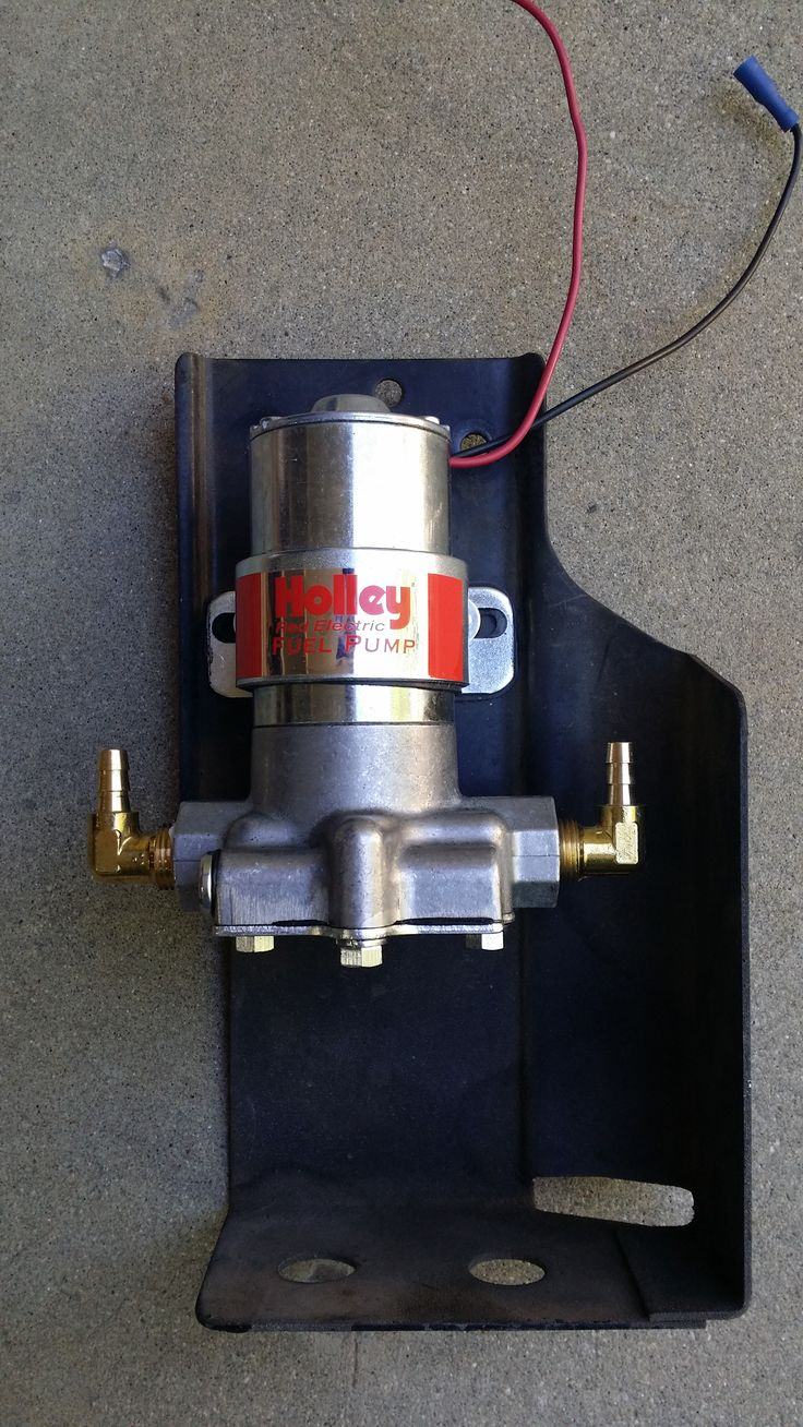Holley fuel pump, replacing the stock fuel pump.  The 1973 240Z came with the mechanical and electric fuel pump in order to help with vapor lock.