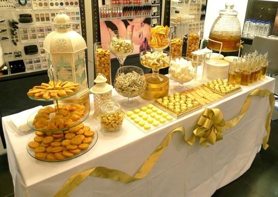 Gold Food Gold Dessert Gold Candy Buffet Gold Candy