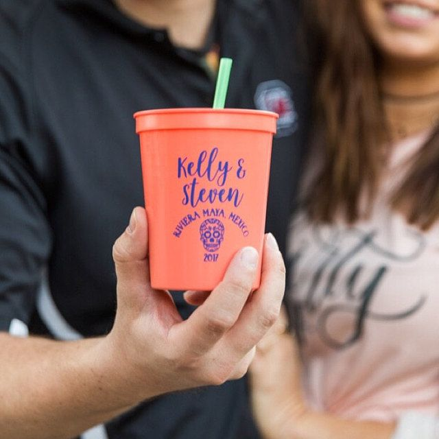 Colorful custom cups from Gracious Bridal for your next party!