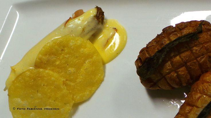 Krokante aardappelen met salie en witlof