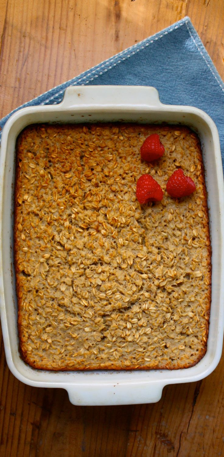 Baked Vanilla Oatmeal with Nutmeg -- If you haven't baked oatmeal before, you're missing out. Try this easy, quick, and completely delicious recipe for a new take on breakfast! // recipes // healthy recipes // fall recipes // healthy breakfast recipes // beachbody // beachbody blog