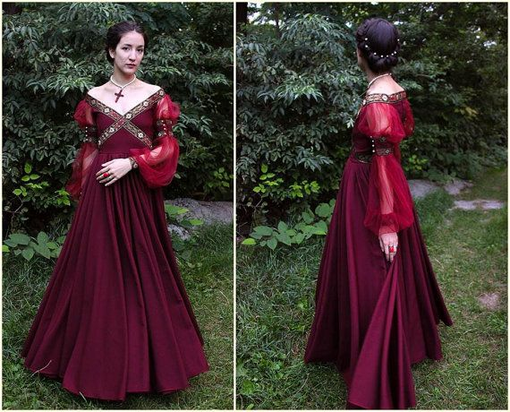 Renaissance Dress Historical Costume Italian by MariaHellerDesigns