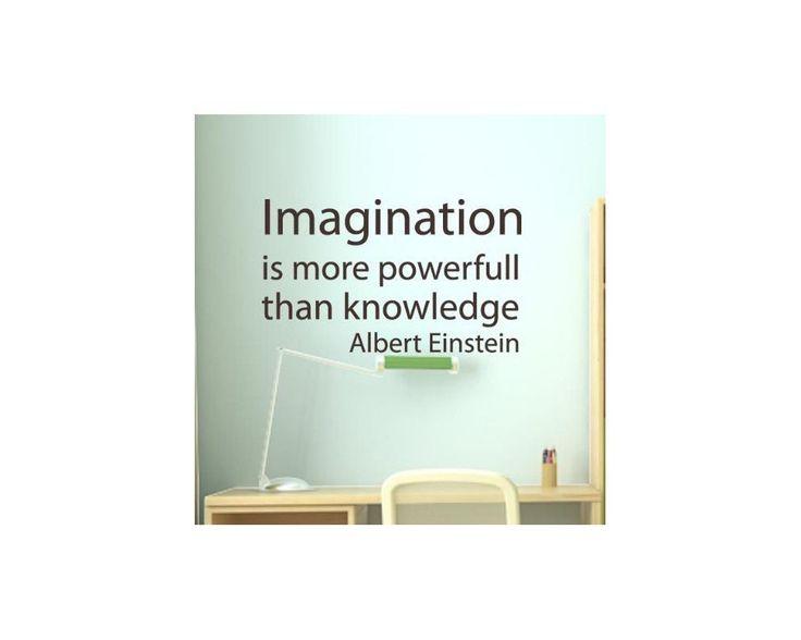 Imagination is more powerfull..., Einstein , Αυτοκόλλητο τοίχου