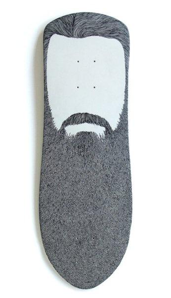 Beard design skateboard