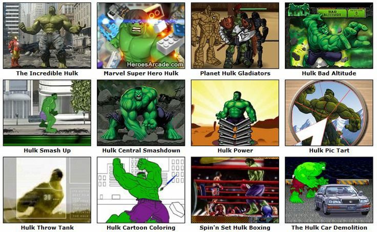 Play Hulk Games online at HeroesArcade.com