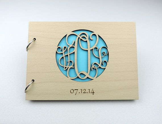 Custom Wood Wedding Guest Book Wedding by MelindaWeddingDesign
