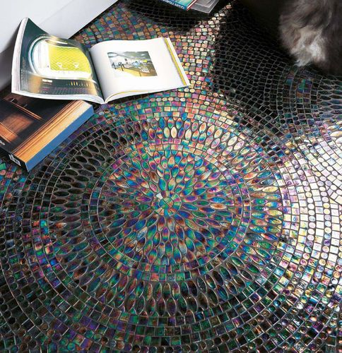 Indoor mosaic / floor-mounted / glass / colored NEOGLASS : CENTRY SICIS