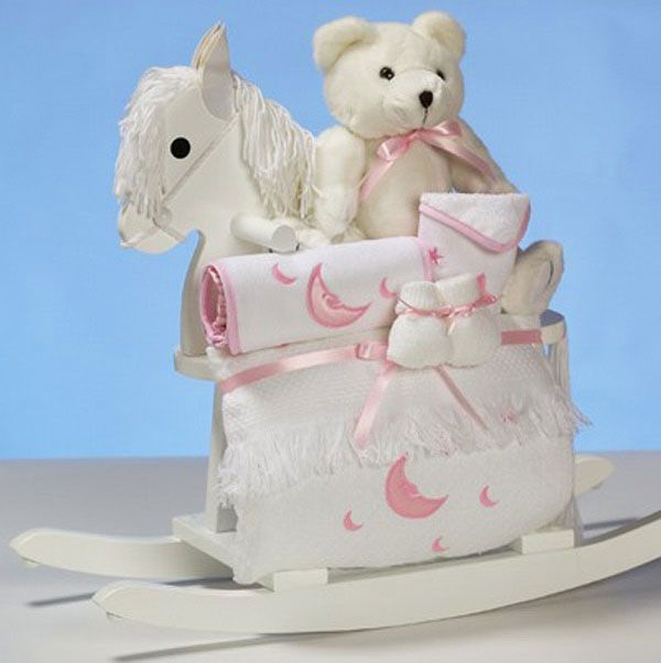 Personalized Baby Gift Baskets Rocking Horse : Images about lil ladies baby girl gifts on