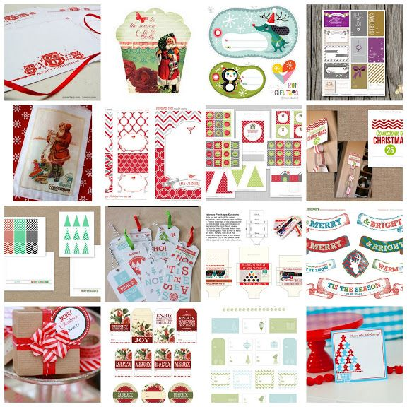 Christmas Printables: a bunch of super cute (and free!) printables that will make quick work of gift tags, place cards, and even some decorating tasks.